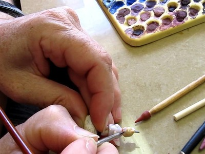 Painting Victorian Children Beads