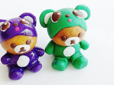 Polymer Clay Tutorial: Rilakkuma Bear Polymer Clay Charms (Kids Crafts)