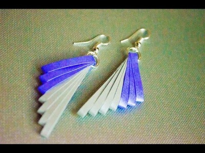 Quilling paper earrings latest design   quilling paper Earrings Making Tutorial