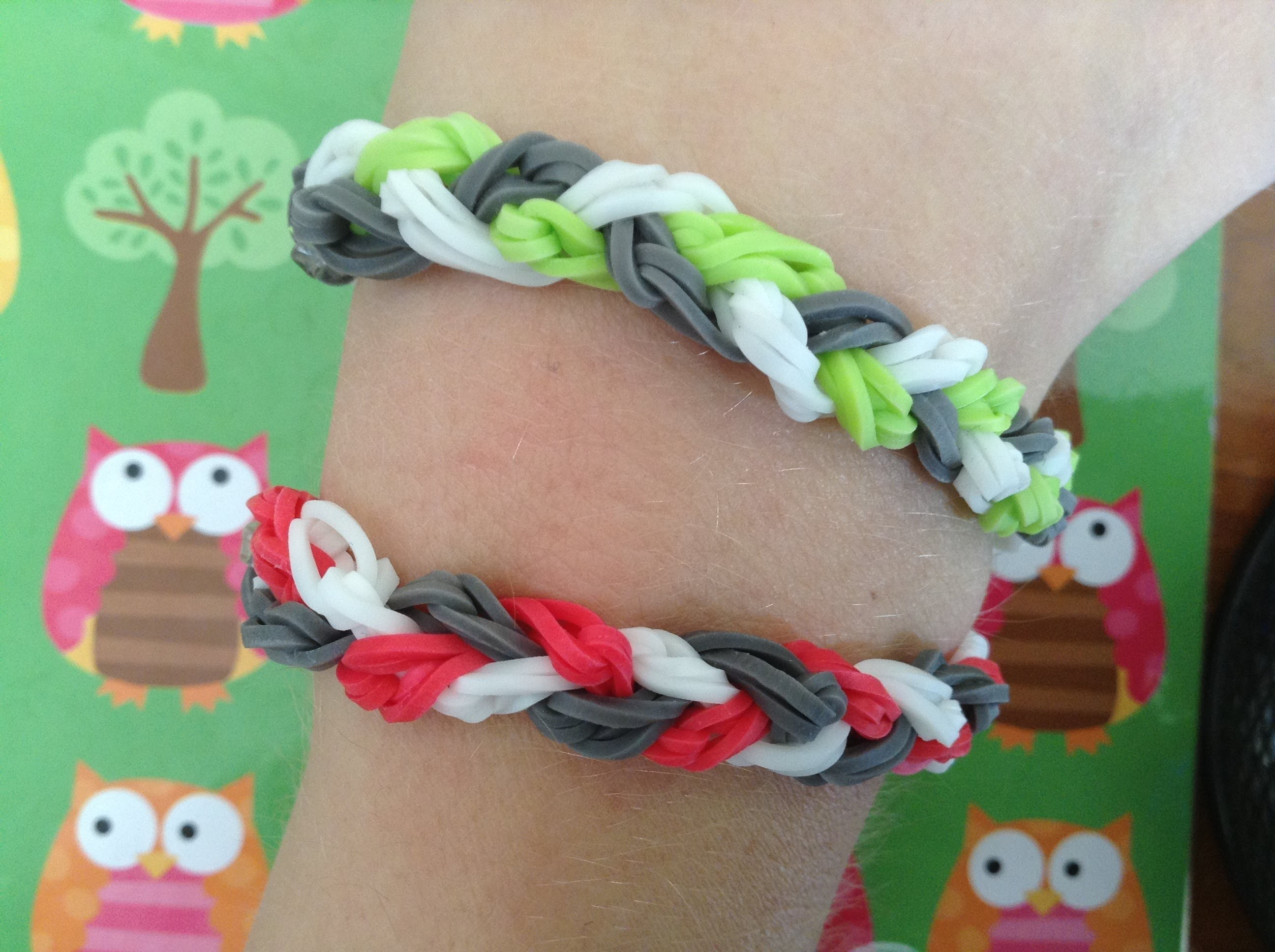 Rainbow Loom Braided Single Bracelet Tutorial