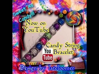 Rainbow Loom Candy String Bracelet