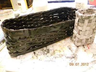 Recycle and storage project   Creating Basket with newspaper Part II