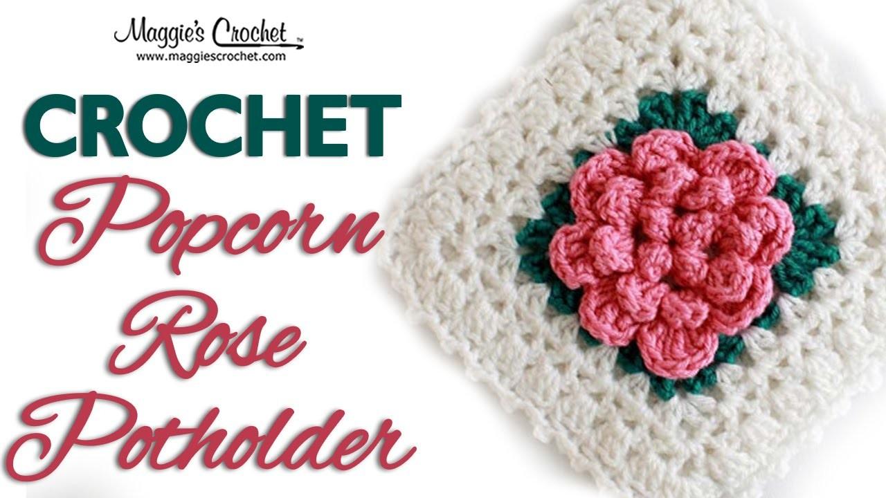 ROSE POTHOLDER PART 1 OF 8 LEFT HANDED FREE CROCHET PATTERN FP433