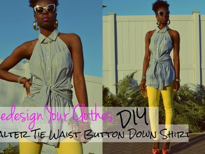 (RYC) 5: DIY Halter Tie Waist Button Down Shirt