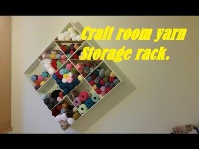 Simple painted project: Craft room yarn storage rack.