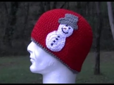 Snowman Applique Crochet Tutorial Great for Hat's