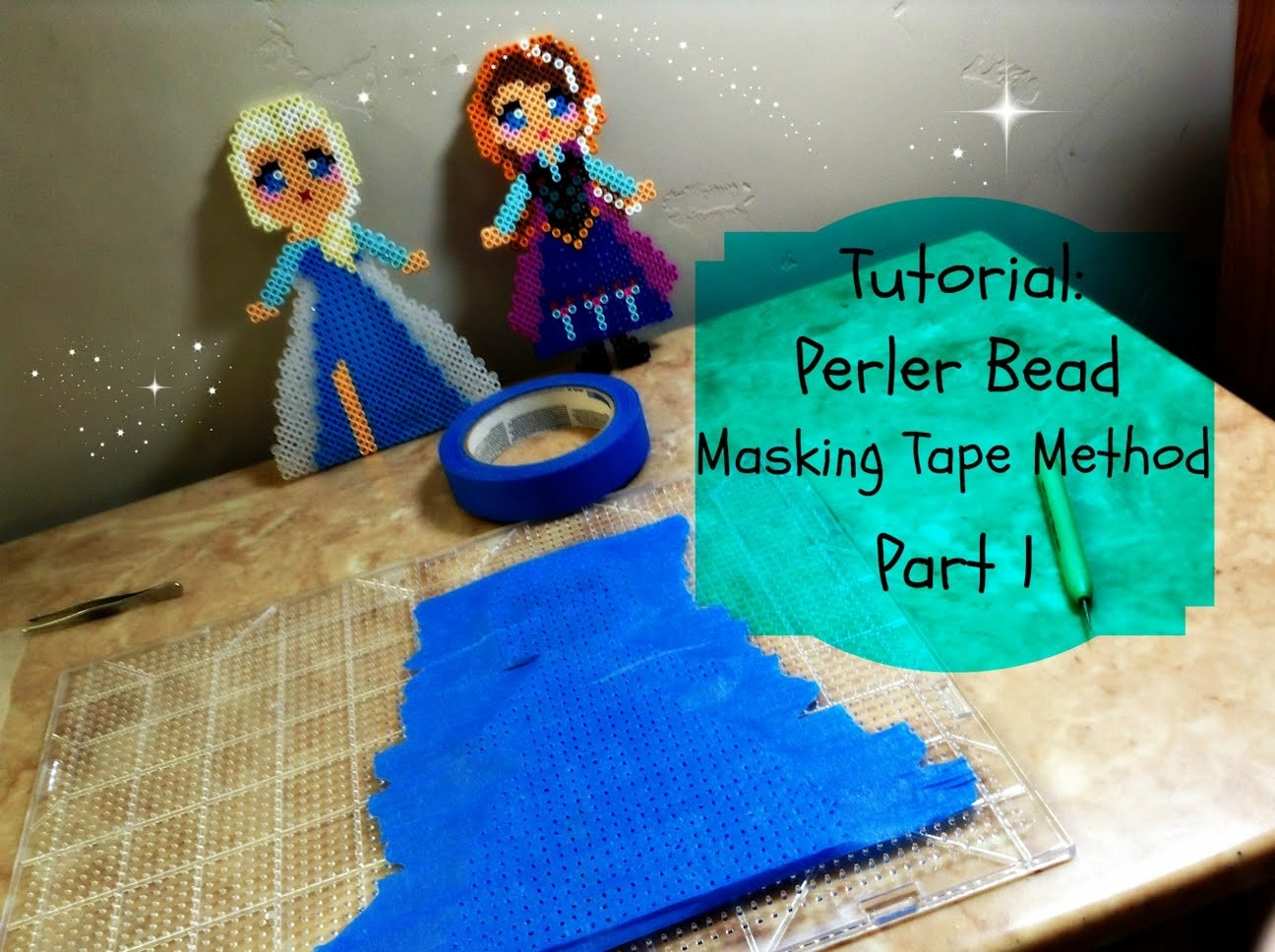 Tutorial: How to use the masking tape Perler bead method - part 1.5