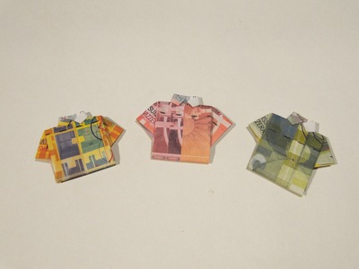 Very Easy Origami Money T-shirt - Origami Tutorial - How to make an origami t-shirt