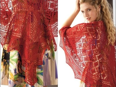 #10 Red Lace Shawl, Vogue Knitting Holiday 2013