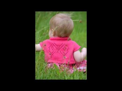 Baby Girl Knitting Pattern - Papillon Bolero - Presentation
