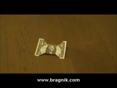 Bow-tie Made Of The Dollar Bill origami