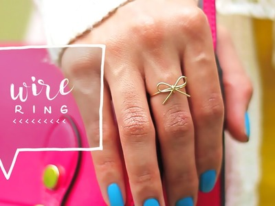 Bow Wire Ring DIY