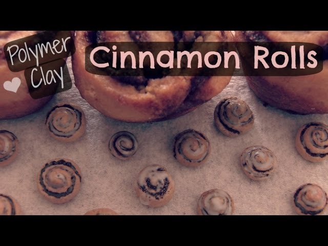 Cinnamon Roll - Polymer Clay - How To