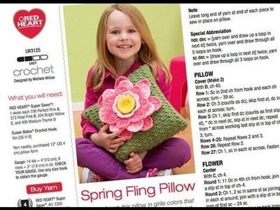 Crochet Along: Spring Fling Pillow Part 6 - Final