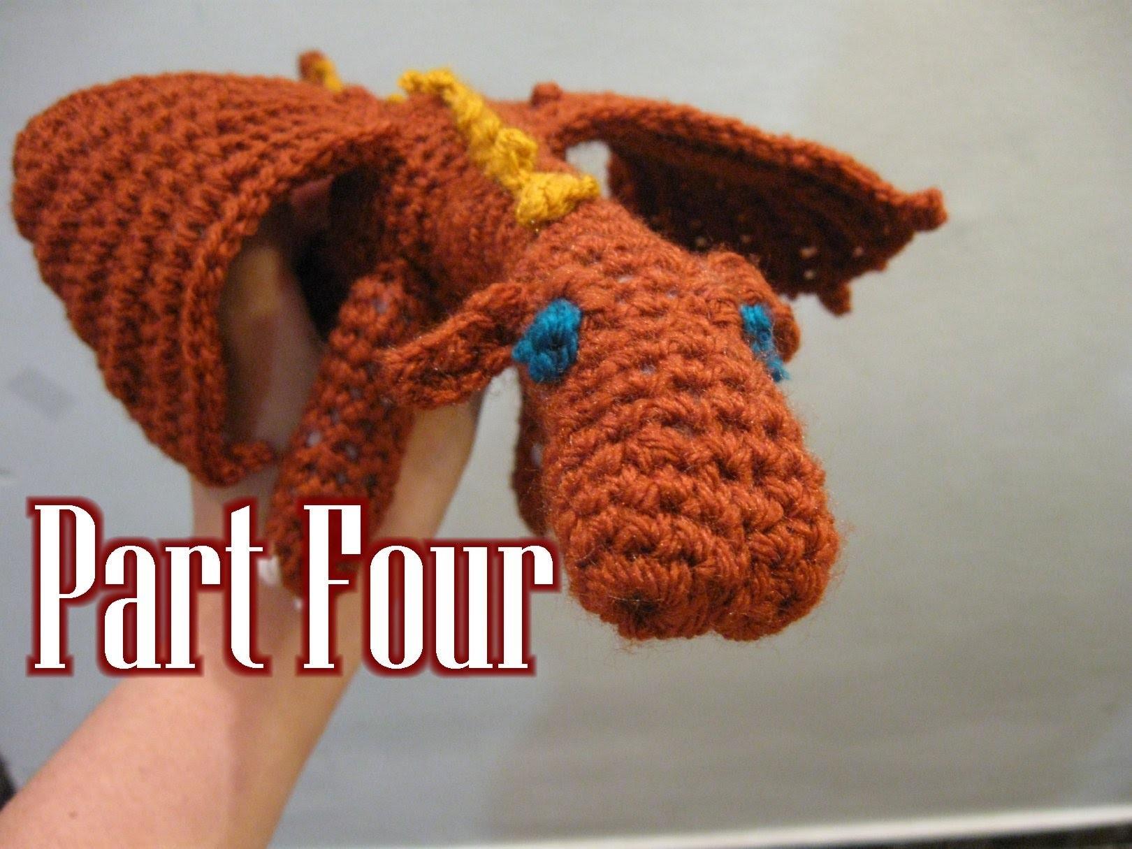 Crochet Amigurumi Fierce Dragon Tutorial pt 4