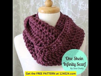 Crochet braided infinity scarf free pattern