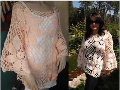Crochet Cardigan o Blusa, Abrigo de Verano  Parte 1 de 2