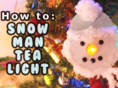 DAY #11 ❄ DIY Snowman Tea Light Tutorial ❄ (12 Days of Christmas)