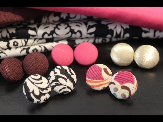 DIY: Fabric Button Earrings