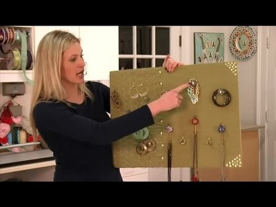 DIY Fabric-Covered Jewelry Display Stand : DIY Crafts