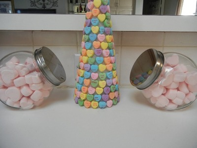 DIY: Foam Cone with Sweethearts for Valentine's Day - easy craft project!