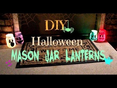 DIY Halloween Mason Jar Lanterns