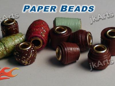 DIY How To Make Paper Beads -  JK Arts 345