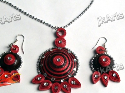 DIY How to make Paper Quilling Jewelry Set - JK Arts 369