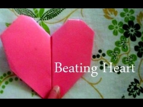 Diy Paper Crafts How To Make An Origami Beating Heart