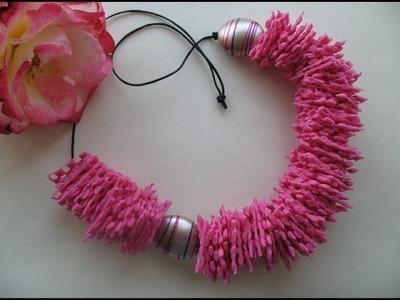DIY plastic necklace. Tutorial collane plastica.