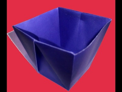 Drinking Cup using Origami paper - How to make an Origami Drinking Cup