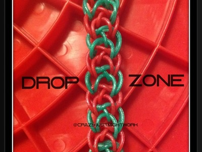 Drop Zone bracelet tutorial (rainbow loom bands)