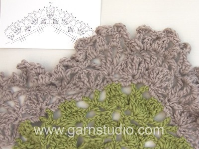 DROPS Crocheting  Tutorial: How to crochet after chart M.2 in 137-29