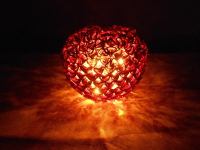 First Time Ever! Quilling Heart Lamp - Making Tutorial
