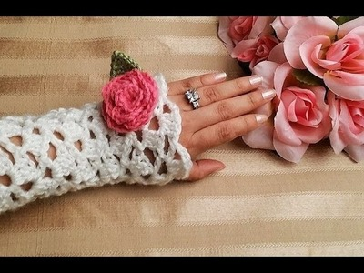 Glama's White Vintage Lacey Spring Gloves