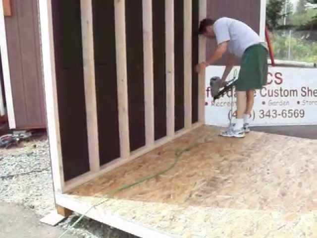 How To Build A Shed Step 15 Construction Woodworking DIY Backyard Home Improvement with Music