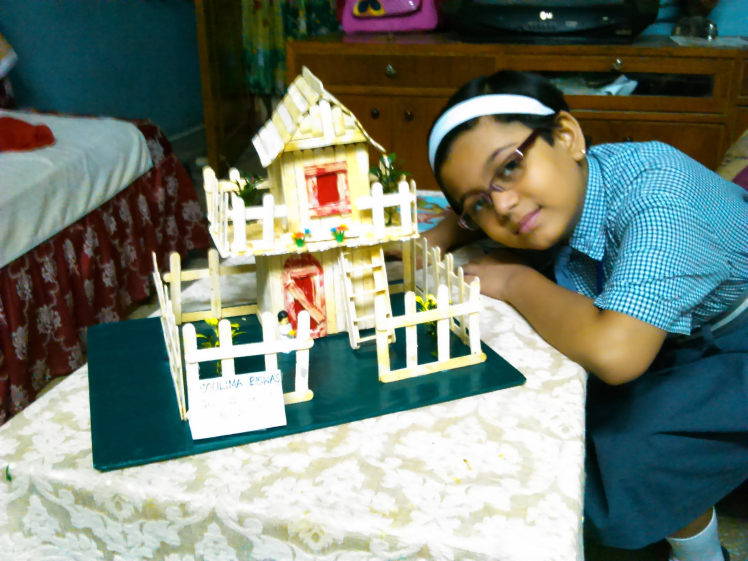 How to build Ice-cream stick house - Craft Popsicle stick house