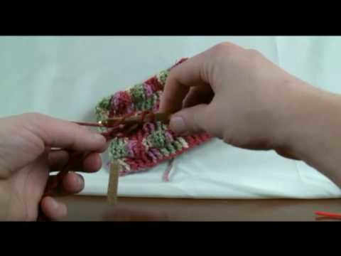 How To Crochet Black Berry Stitch - RH Part 1 of 2