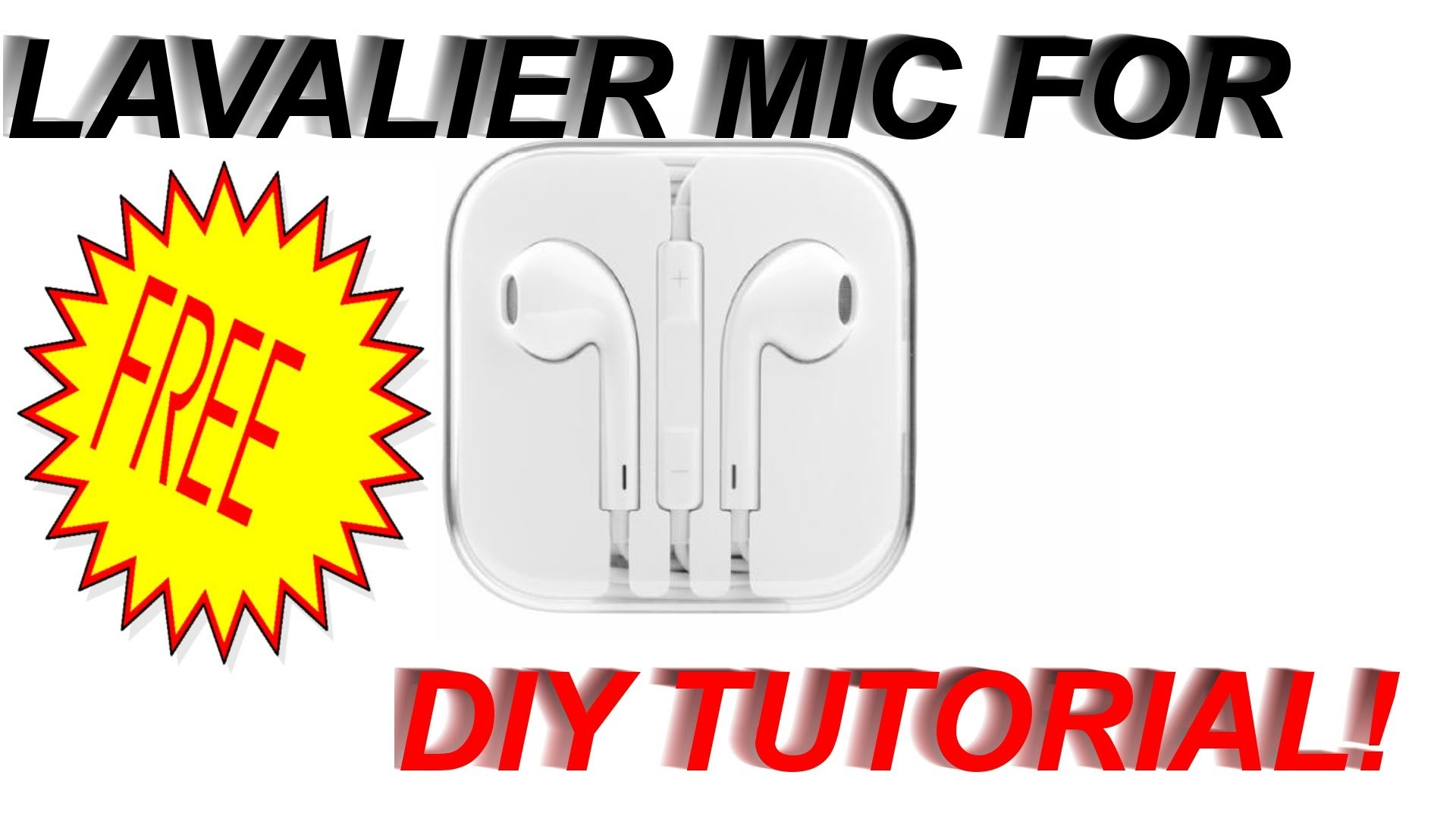 How to Get Your Own Lavalier Mic For FREE! DIY Tutorial
