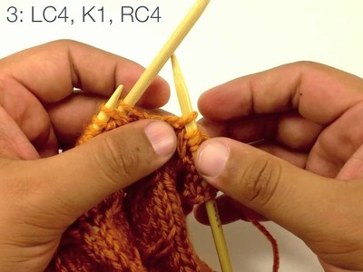How to Knit the Fishtail Cable Stitch (English Style)