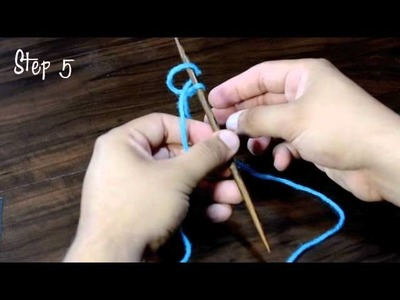 How to Knit The Long Tail Thumb Cast On