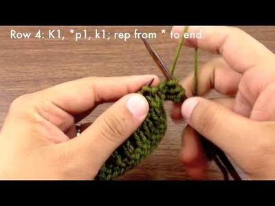 How to Knit the Ridged Rib Stitch (English Style)