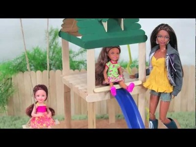 How to Make a Doll Playground - Doll Crafts