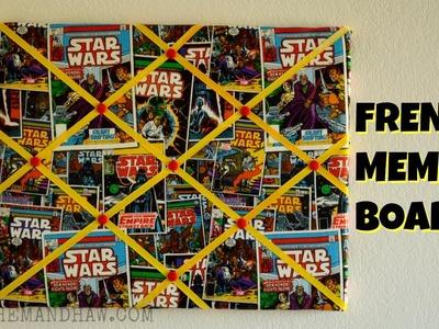 How to Make a French Memo Board - DIY Ribbon Bulletin Board
