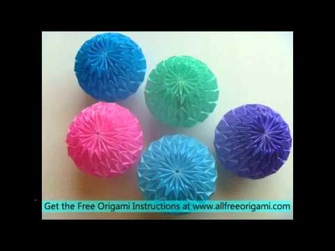 How To Make A Origami Magic Ball With Printer Paper