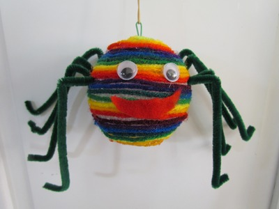 How to Make a Spider Puppet Halloween Arts & Craft Project #3