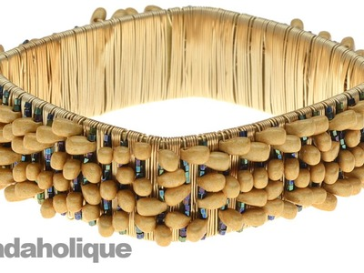 How to Wire Wrap Beads onto a Bangle