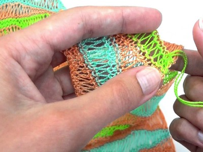 Knitting how to - Invisible weave in for fine yarns