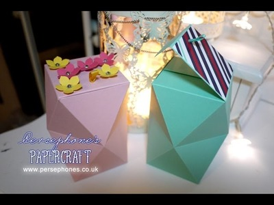 Large Double Layered Multifaceted Box   Stampin' Up UK with Persephone's Papercraft