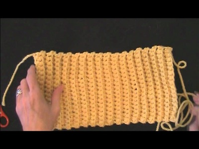 Learn How to Crochet Ribbed Hat Sewing Together - Right Handed